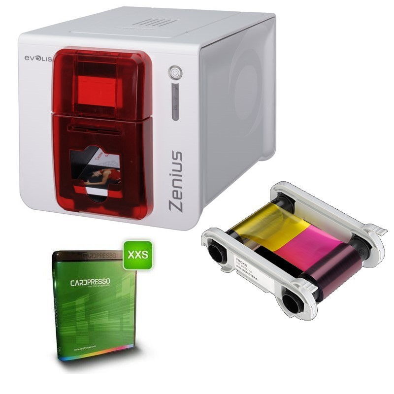 Kit bundle evolis zenius imprimante cartes plastique badge - Imprimante carte pvc ...