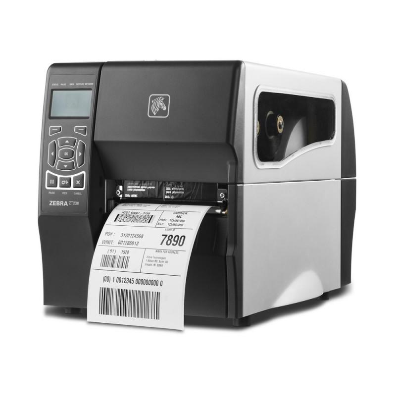 ZEBRA ZT200 Imprimante Etiquette Imprime code barre logo texte