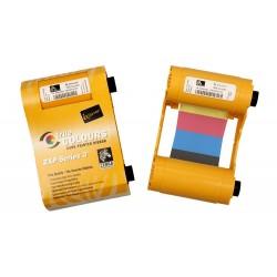 Ruban Encreur 4 couleurs pour imprimante carte - badge Zebra ZXP Series 3 double faces