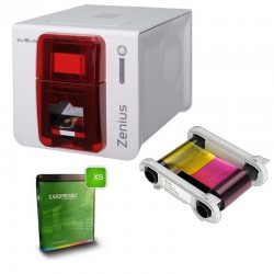 Kit Bundle Evolis Zenius Imprimante Cartes Plastique - Badge