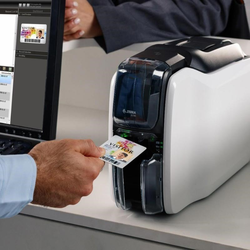 ZEBRA ZC100 Imprimante Carte Plastique