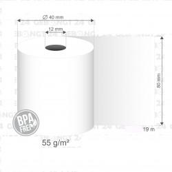 80x19x12 Rouleauc papier thermique pour imprimante mobile