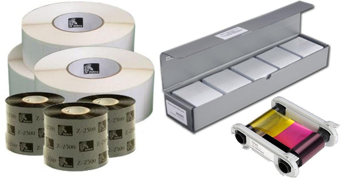 Consommables pour imprimantes tickets tiquettes cartes pvc etc - Imprimante carte pvc ...